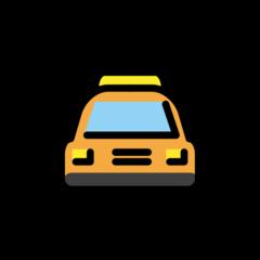 Oncoming Taxi openmoji emoji