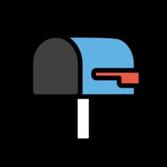Open Mailbox With Lowered Flag openmoji emoji