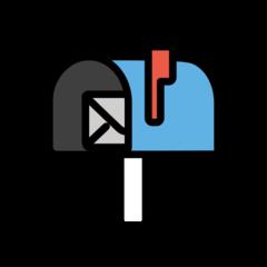 Open Mailbox With Raised Flag openmoji emoji
