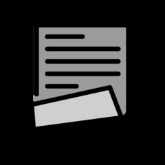 Page With Curl openmoji emoji