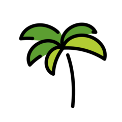 Palm Tree openmoji emoji