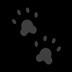 Paw Prints openmoji emoji