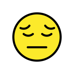 Pensive Face openmoji emoji