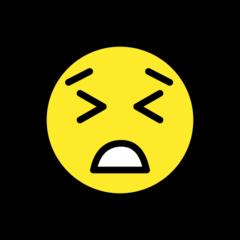 Persevering Face openmoji emoji