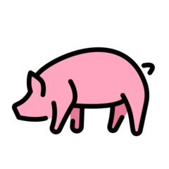 Pig openmoji emoji