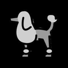 Poodle openmoji emoji