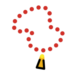 Prayer Beads openmoji emoji