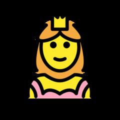 Princess openmoji emoji