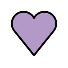 Purple Heart openmoji emoji