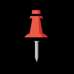 Pushpin openmoji emoji