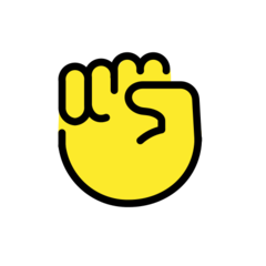 Raised Fist openmoji emoji