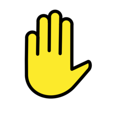 Raised Hand openmoji emoji