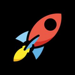 Rocket openmoji emoji