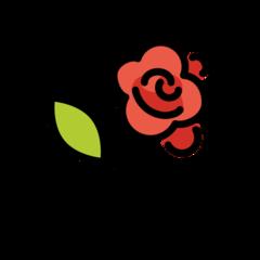 Rose openmoji emoji