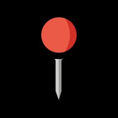 Round Pushpin openmoji emoji