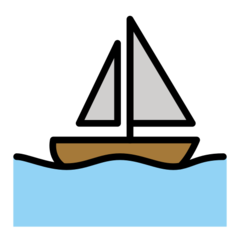 Sailboat openmoji emoji