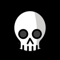 Skull openmoji emoji