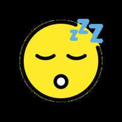 Sleeping Face openmoji emoji