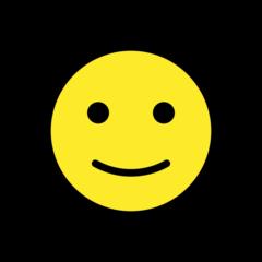 Slightly Smiling Face openmoji emoji