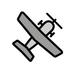 Small Airplane openmoji emoji