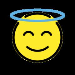 Smiling Face With Halo openmoji emoji