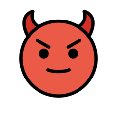 Smiling Face With Horns openmoji emoji