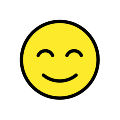 Smiling Face With Smiling Eyes openmoji emoji