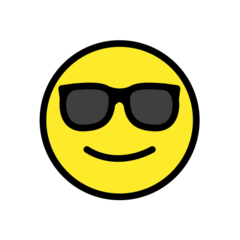 Smiling Face With Sunglasses openmoji emoji