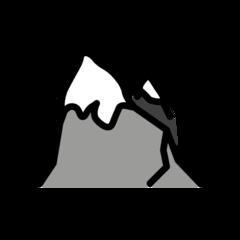 Snow Capped Mountain openmoji emoji