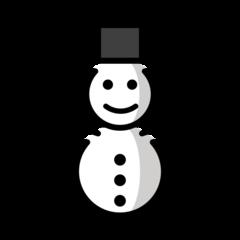 Snowman Without Snow openmoji emoji