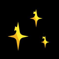 Sparkles openmoji emoji