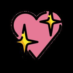 Sparkling Heart openmoji emoji