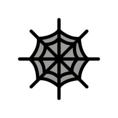 Spider Web openmoji emoji
