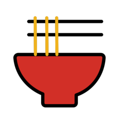 Steaming Bowl openmoji emoji