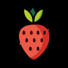 Strawberry openmoji emoji
