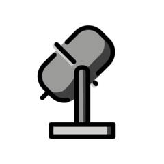 Studio Microphone openmoji emoji