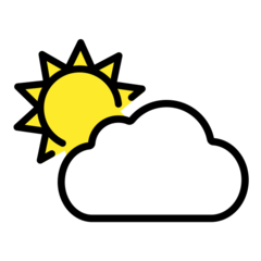 Sun Behind Cloud openmoji emoji
