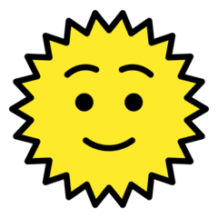 Sun With Face openmoji emoji
