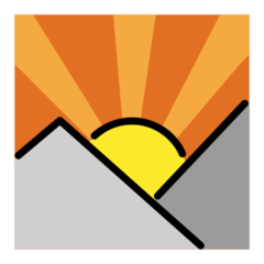 Sunrise Over Mountains openmoji emoji