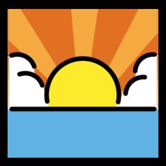 Sunrise openmoji emoji
