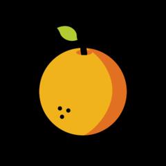 Tangerine openmoji emoji