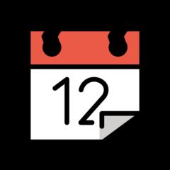 Tear-off Calendar openmoji emoji
