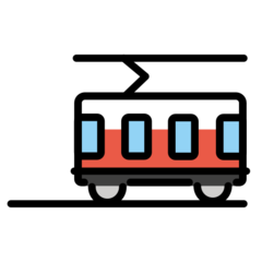 Tram Car openmoji emoji