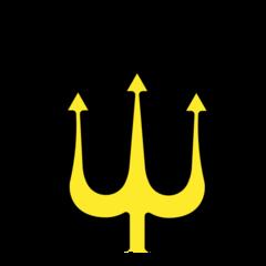 Trident Emblem openmoji emoji