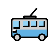 Trolleybus openmoji emoji