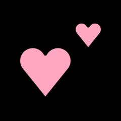 Two Hearts openmoji emoji