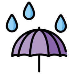 Umbrella With Rain Drops openmoji emoji