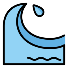 Water Wave openmoji emoji