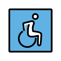 Wheelchair Symbol openmoji emoji