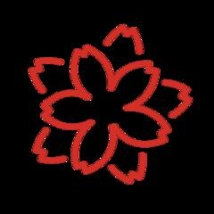 White Flower openmoji emoji